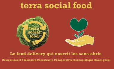 Project visual Terra Social Food, le food delivery qui nourrit les sans abris