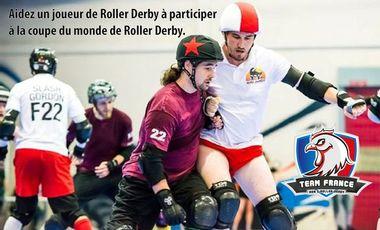 Visueel van project Aider Bravehurt à participer à la coupe du monde de Roller Derby avec la Team France