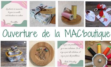 Visueel van project Coup de pouce au lancement de la MAC'boutique