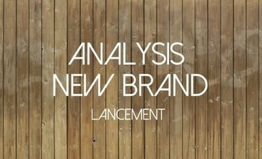 Project visual Analysis New Brand - Lancement
