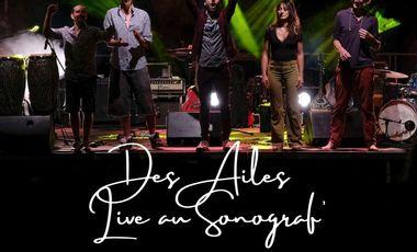Project visual album live version numérique de Caravane Namasté : DES AILES LIVE AU SONOGRAF'