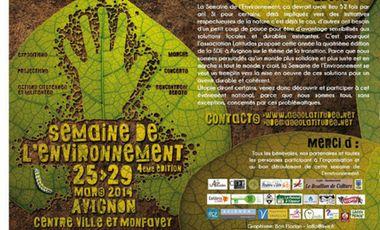 Visueel van project Organisation de la Semaine de l'Environnement 2014 à Avignon