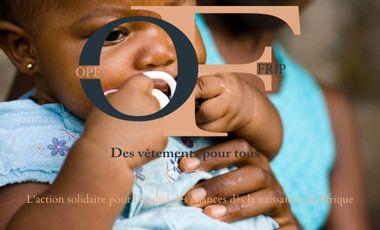 Project visual Ope Frip l'égalité des chances dès la naissance en Afrique