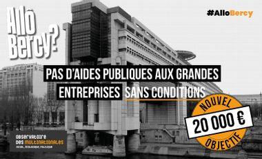 Visuel du projet Allô Bercy? par l'Observatoire des multinationales