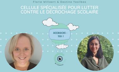"""Visueel van project """"ACCROCHE-TOI !"""" Cellule spécialisée dans la lutte contre le décrochage scolaire"""