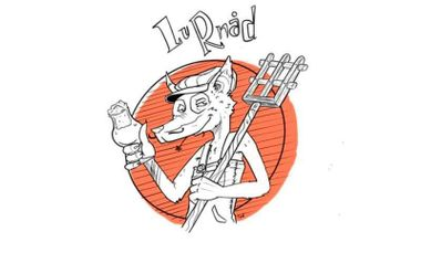 """Visueel van project """"Lu Rnad"""", une bière artisanale qui a du goût!"""