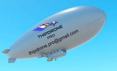 Visueel van project Le ballon dirigeable télépiloté.