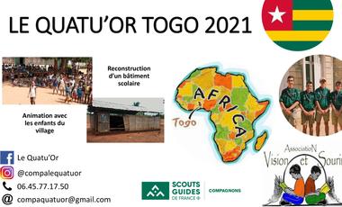 Project visual Le Quatu'Or au Togo