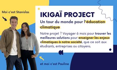 Visuel du projet Ikigaï project : un tour du monde pour l'éducation climatique