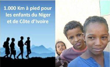 Visuel du projet 1.000 km à pied pour les enfants du Niger et de  la Côte d'Ivoire