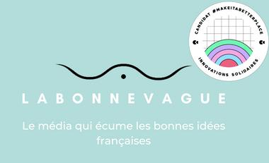 Project visual La Bonne Vague, le média qui met en avant les marques et créateurs français