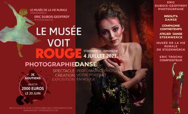 Project visual Le musée voit rouge