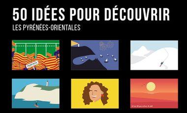 Project visual Le poster des PO : 50 idées pour découvrir les Pyrénées-Orientales!