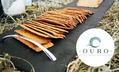 Project visual OURO, Biscuiterie Circulaire : Des crackers responsables, sains et 100% Français