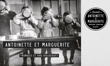 Project visual Antoinette et Marguerite fromagerie bio, cave à vin et comptoir de bonnes choses