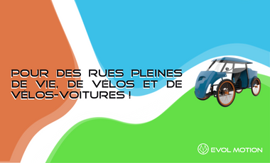 Project visual Ecos, le vélo-voiture qu'il vous faut !