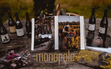 Visueel van project MONOPOLE, la Revue Vins & Pinot Fin