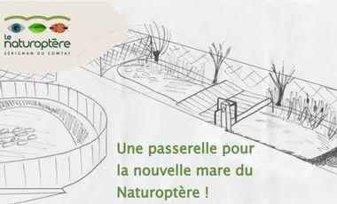 Project visual Une passerelle pour la nouvelle mare du Naturoptère