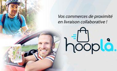 Project visual Hooplà, solution de livraison digitalisée pour les commerces de proximité