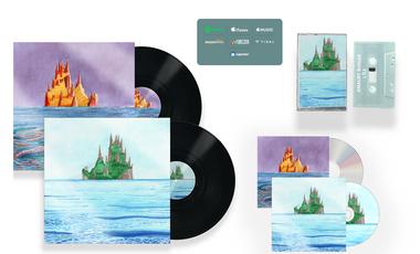Visueel van project L'île, Le CD, la cassette, le vinyle !