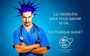 Project visual Concerts au coeur de l'hôpital avec Hôp Les Voilà !