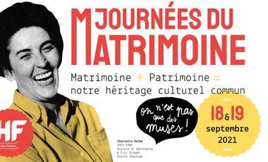 Project visual Soutenez l'héritage des créatrices du passé, soutenez Journées du Matrimoine !