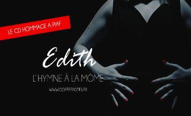 Visueel van project « Edith, l'Hymne à la môme » - l'hommage des Coffee Potes gravé sur CD
