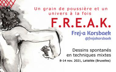 Project visual F.R.E.A.K., une expo de dessins spontanés en techniques mixtes