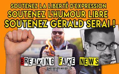 Project visual Liberté de s'exprimer et de rire avec Gérald SERAI