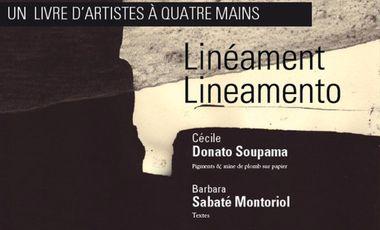 Project visual Linéament / Lineamento, un livre d'artistes à 4 mains