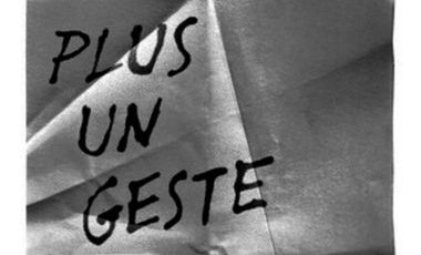 "Visueel van project Exposition ""Plus un geste"""