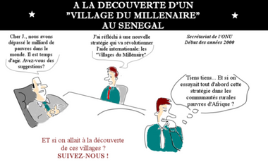 """Visueel van project A la découverte d'un """"Village du Millénaire"""" au Sénégal"""