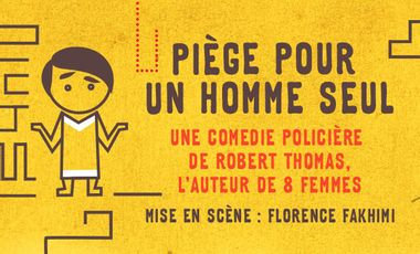 Project visual Piège pour un homme seul, une comédie policière de Robert Thomas, l'auteur de 8 femmes.