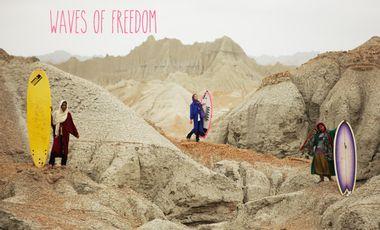 Project visual Les femmes introduisent le surf en Iran