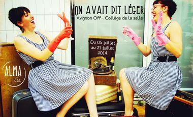 "Project visual ""On avait dit léger"" - Avignon off 2014"