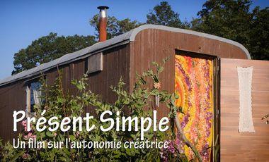 """Visueel van project """"Présent Simple"""", un film sur l'autonomie créatrice"""