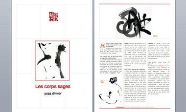 """Visueel van project édition d'un recueil de calligraphie contemporaine """"les corps sages"""""""