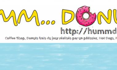 Visueel van project Humm...Donuts  Arrive à Paris! Des Donuts à l'américaine frais et authentiques du jour, réalisés par un pâtissier.