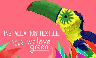 Visuel du projet Installation textile pour We Love Green