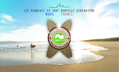 Project visual NOTOX : Le surf écologique Made in France