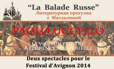 """Visueel van project Magdalina à Avignon avec 2 spectacles :""""La Balade Russe"""" et """"Paolo Uccello"""""""