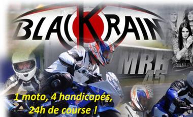 Project visual Une première mondiale: 1 moto adaptée, 4 handicapés physiques, 24 heures de course au Mans