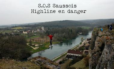 Visueel van project S.O.S Saussois - Highline en danger