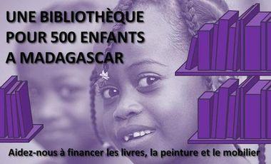 Project visual Une bibliothèque pour 500 enfants à Madagascar