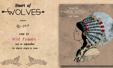 "Visueel van project Heart of Wolves - Nouvel EP ""Wild Flowers"""