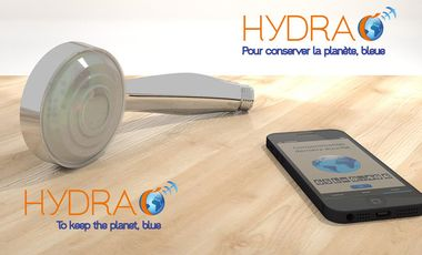 Visuel du projet Hydrao, la douche intelligente / the smart shower