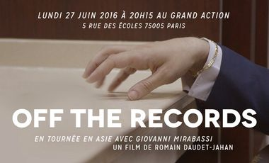 """Project visual """"Off the records"""" On tour en Asie avec Giovanni Mirabassi"""