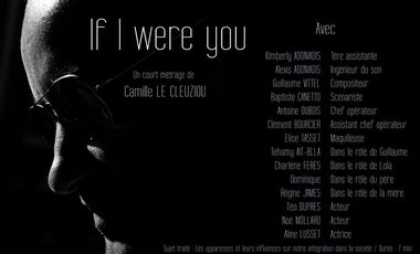 Visuel du projet If I were you - Court métrage sur les apparences