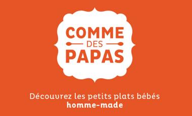 Visuel du projet Comme des Papas    -    Les petits plats bébés homme-made