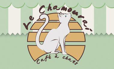 Project visual Le Chamourai, 1er Café à Chats Lyonnais